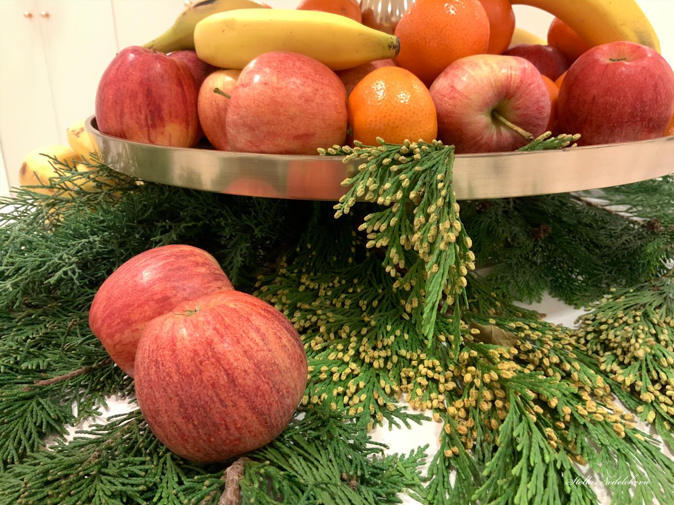 Décoration de Noël avec des fruits