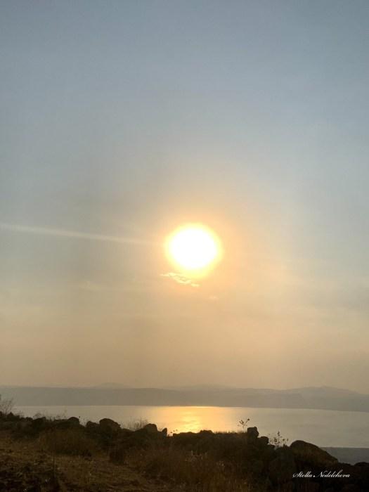 Coucher du soleil sur la mer de Galilée