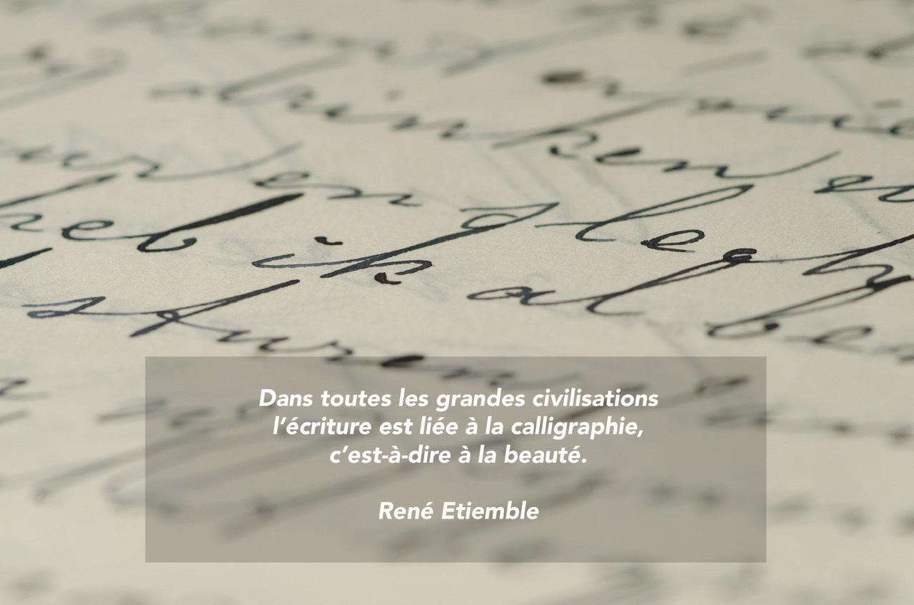 Citation - calligraphie