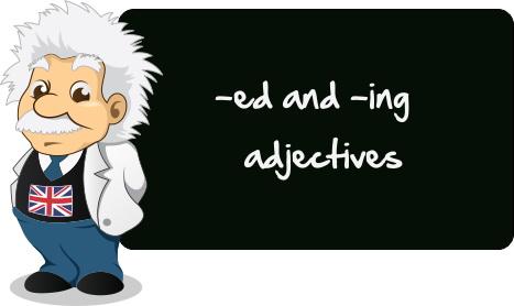 """Упражнения """"Английские прилагательные с окончаниями -ed и ..."""