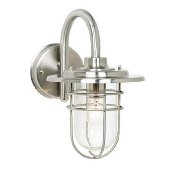 Buying Guide  Find The Best Outdoor Porch Light For Your Home     For an industrial and nautical appeal  go with this brushed steel outdoor  wall light
