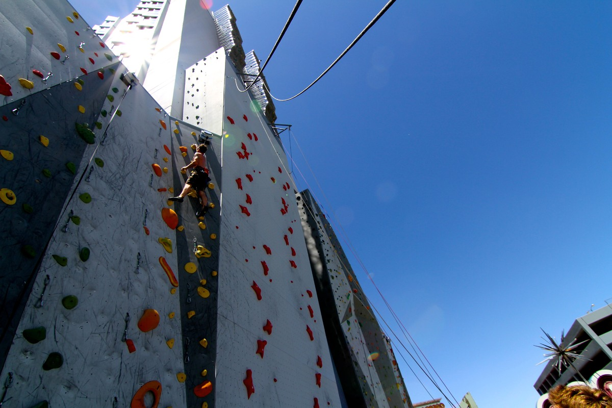 Worlds Tallest Climbing Wall Opens On The Side Of A