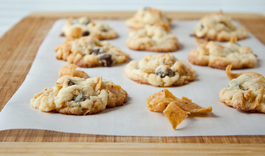 "<strong>Get the <a href=""http://www.dessertfortwo.com/2013/08/frito-chocolate-chip-cookies-for-amber/"" target=""_blank"">Frito"