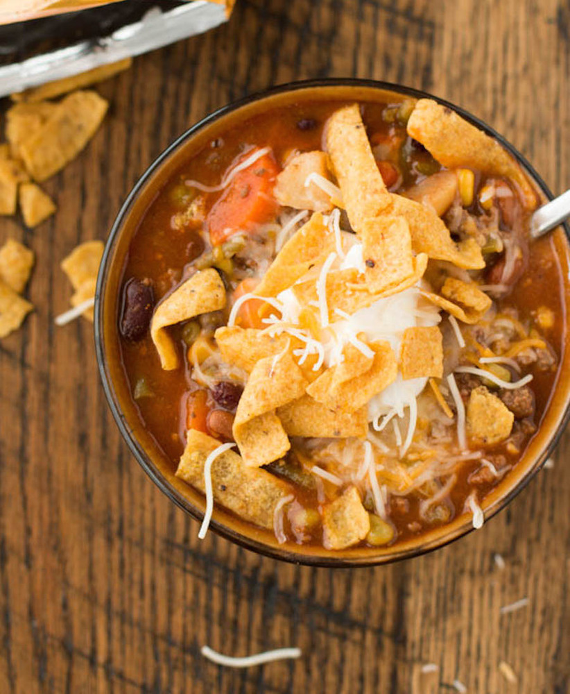 """<strong>Get the <a href=""""http://www.ohsweetbasil.com/2014/01/taco-stew.html"""" target=""""_blank"""">Taco Stew recipe</a> from Oh Swe"""