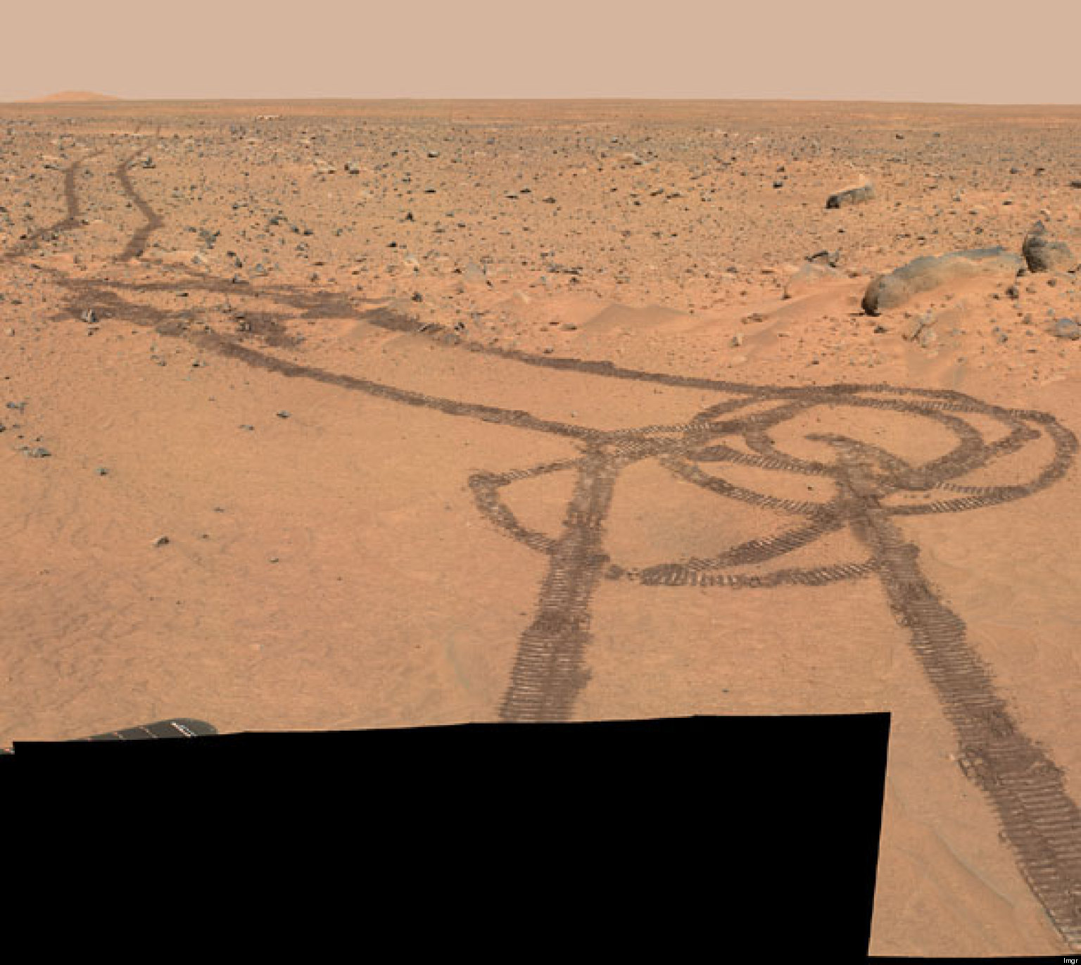 Who vandalized Mars with the Opportunity rover and was it