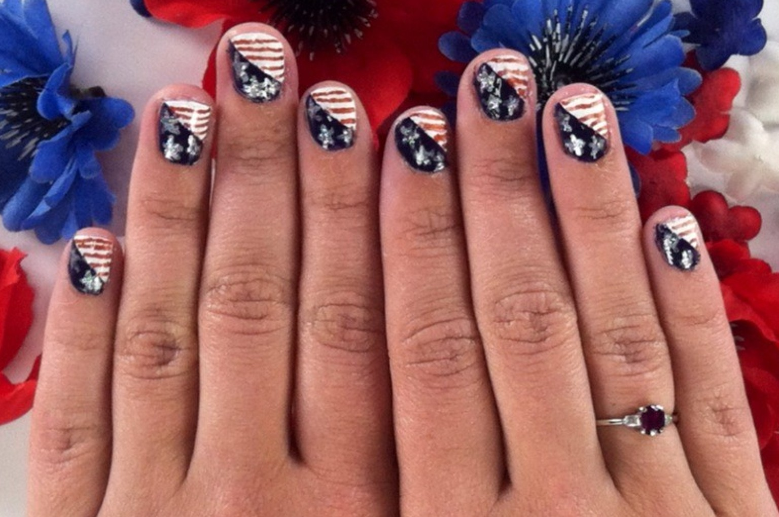 Fourth Of July Nail Art That Puts The Stars In Spangled Banner Huffpost