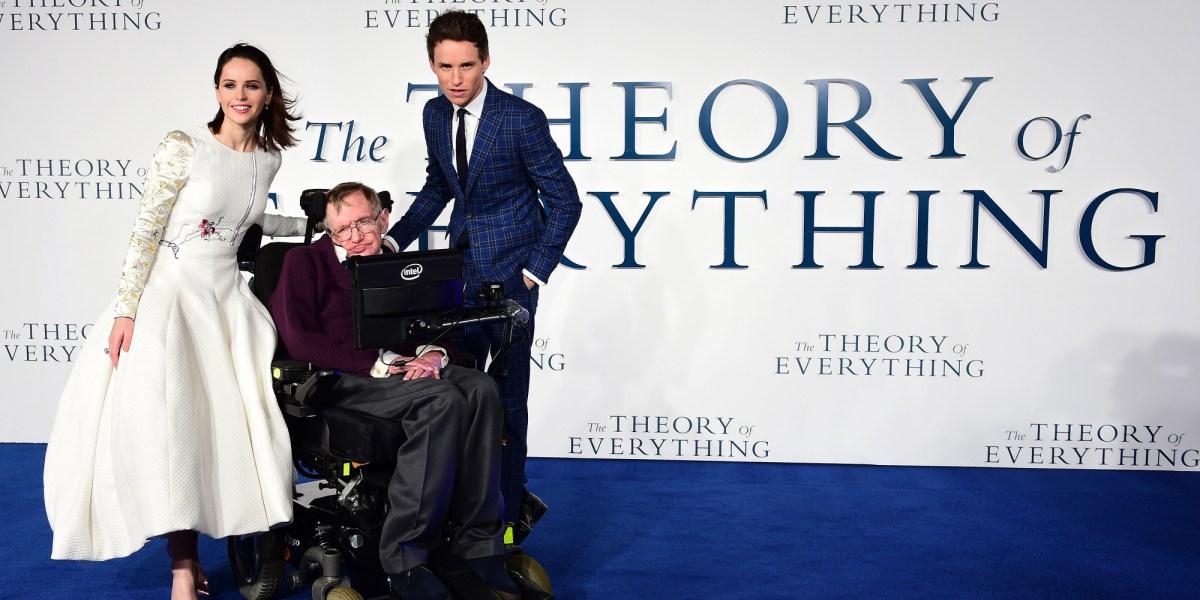 Resultado de imagem para Stephen Hawking e eddie Redmayne