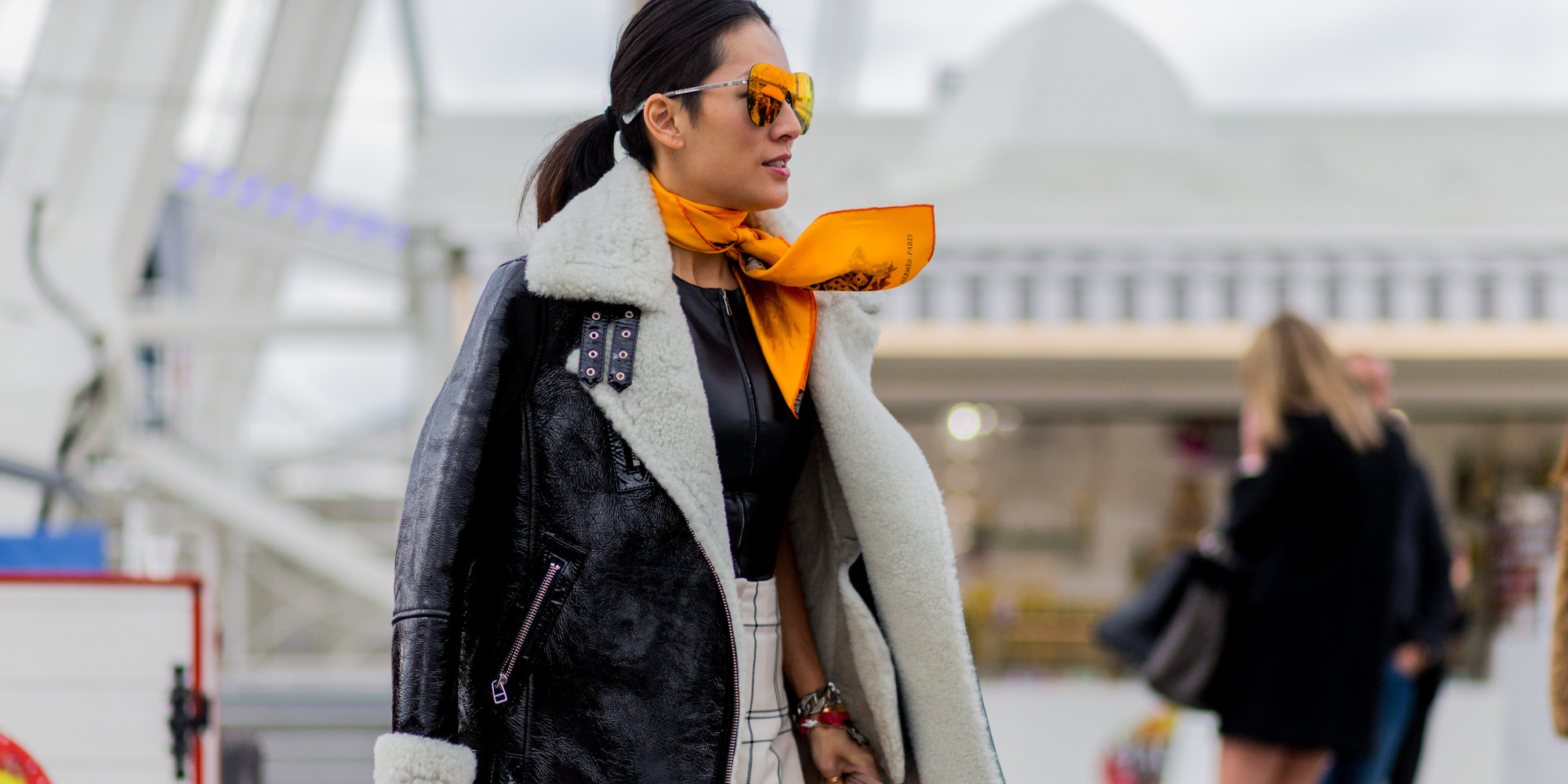 How To Wear A Scarf Like A Street Style Star