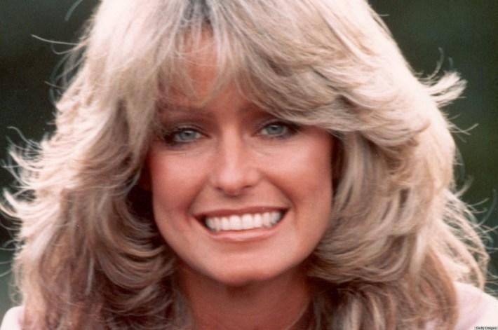 farrah fawcett and her iconic '70s hairdo (photo)   huffpost