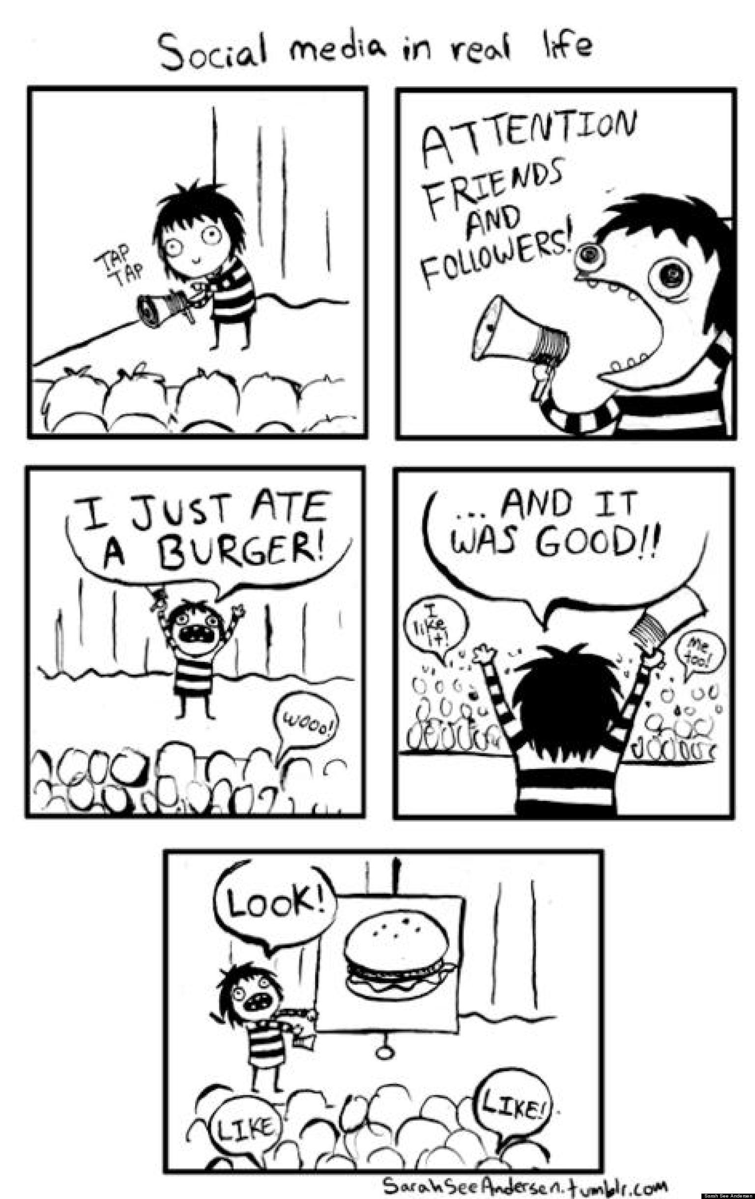 Social Media In Real Life Comic