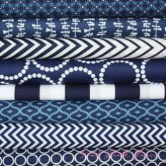 Image result for stacks of indigo print fabric