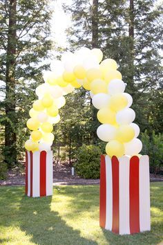 Circus Popcorn Balloon Arch By Inflation Sensations