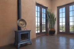 Morso Wood Stove Installed In A Corner Santa Fe Residence