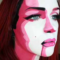 Pop Art make-up for Halloween.