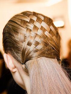 Basket Weave Hair On Pinterest Kid Hair Braids Catwalk