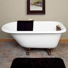 48 Cambria Cast Iron Roll Top Clawfoot Tub Clawfoot
