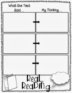 Metacognition Think Sheets To Improve Reading