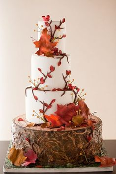 beautiful fall weddi
