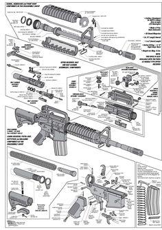 AR15 Exploded Parts Diagram   AR15 Parts List   steve's stuff   Pinterest
