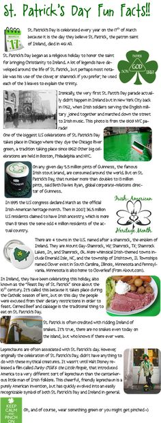 St. Patrick's Day Infographics | Happy, Irish and Facts