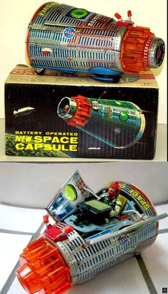 Horikawa Nasa Space Capsule Battery Operated Tin Toy from ...