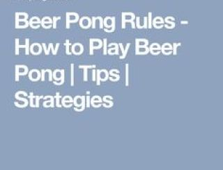 Beer Pong Rules  How To Play Beer Pong