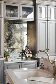 antique mirror glass backsplash tile veidrodziai on incredible kitchen designs that will make you need to repeat yours id=14226