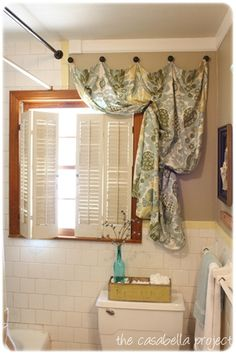 1000 Images About Bathroom Window Curtains On Pinterest