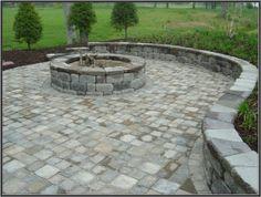 keystone patio pavers designs Hardscape Package #3 - Brick Paver Patio, Pergola, Firepit