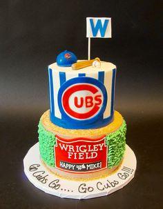 Chicago Cubs Birthday Cake Birthday Cakes Pinterest