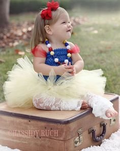 Snow White Tutu Dress Halloween Costume Baby Girl