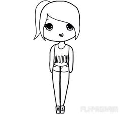 1000+ images about Chibi girl template on Pinterest ...