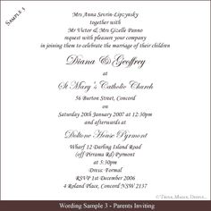 Image Result For Wedding Invitation Wording Ideas