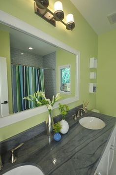 Blue Green Bathrooms On Pinterest Yellow Room Decor