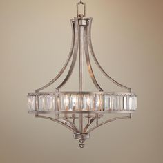Possini Euro Metairie 20 W Silver Fabric Crystal Chandelier Products And Crystals