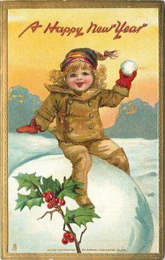 1000 Images About Vintage Nieuwjaar On Pinterest