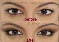 Hooded eye makeup... A bunch of super easy tutorials with pics