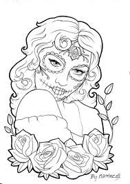 1000 Images About Coloriage Lady Skull On Pinterest
