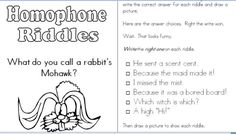 Images About Homophones