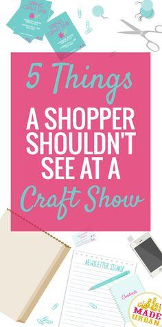 Although craft fairs