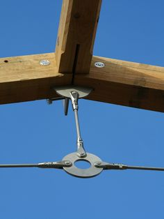 Glue Laminated Wood Beams Connected One Another With Steel
