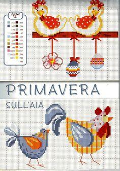chicken cross stitch pattern   crosstitch   Pinterest ...