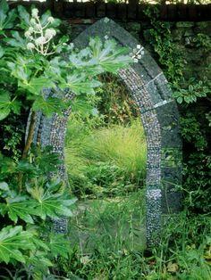 Garden Mirror Tall Gothic Metal Frame Mirrors Outdoor