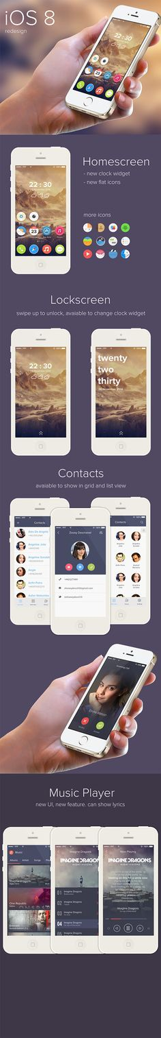 iOS 8 redesign by Gh