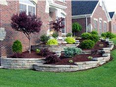 "Beautiful curved raised bed garden using Landscape ""Stones ... on Unlevel Backyard Ideas id=64186"
