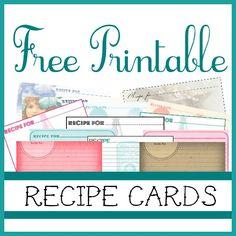 Printable Recipe Cards On Pinterest Recipe Cards Recipe