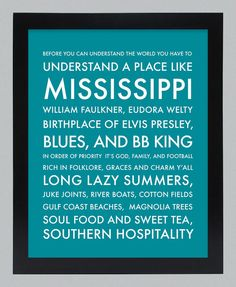 Understanding Mississippi -- my daddy grew up here, and every time I go back, it really does feel like coming home