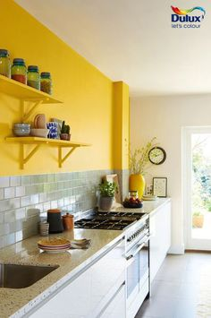 Create A Statement Kitchen With Yellow Combine Dulux Sunflower Symphony 4