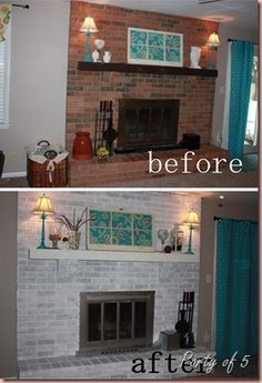 1000 Images About Fireplace On Pinterest Whitewash