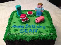 Minecraft Birthday Cake Creeper My Creations
